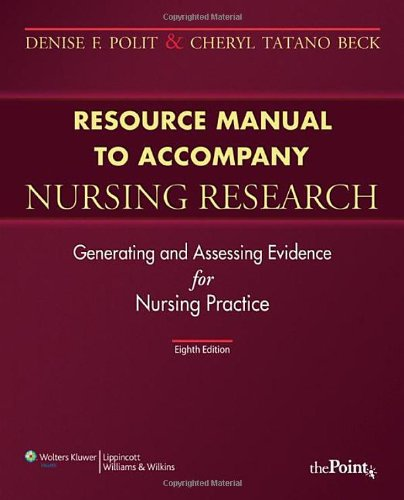 Resource Manual to Accompany Nursing Research (Point...