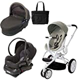 Quinny Moodd Stroller Travel System and Dreami Bassinet in Natural Delight with Bag