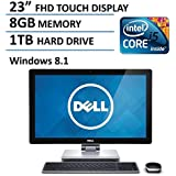 2016 Newest Dell 23-inch High Performance Premium All-in-One Desktop, Intel Core I5-4210M Up To 3.2GHz, 8 GB DDR3L, 1TB HDD, 1080p FHD Touchsreen Display, Webcam, HDMI, Bluetooth, Windows 8.1/10