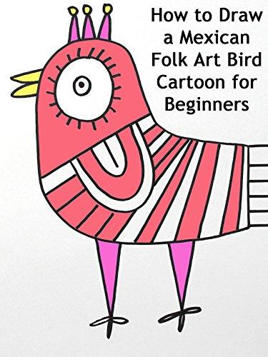 How to Draw a Mexican Folk Art Bird Cartoon for Beginners