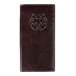 Kattee Kylin Embossed Genuine Leather Bifold Wallet Multi Pocket Card Holder