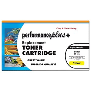 Performance Plus TN 115 Yellow Compatible Toner for Brother All-in-One Laser Printer Models: DCP-9040CN, MFC-9440CN, MFC-9450CDN, MFC-9840CDW, HL-4040CDN, HL-4040CN, HL-4070CDW