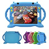 iPad Case for Kids, New iPad 2017 / iPad Pro / iPad Air 1 2 / iPad 5 6 Cute Case 9.7 inch Universal Shockproof Silicone Protective Cover with Self Stand [BPA FREE][Side Handles] (Blue)