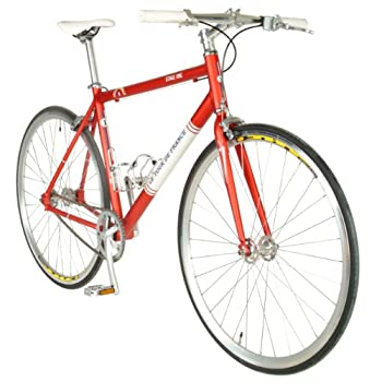 Tour de FranceStage One Vintage Fixie Bike, 700c Wheels,Men's Bike, Red, 45 cm Frame, 51 cm Frame, 56 cm Frame