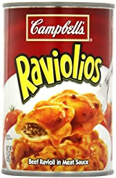 Campbell\'s Raviolios, Beef Ravioli in Meat Sauce, 15 Ounce (Pack of 12)