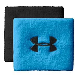 Under Armour 3 Inch Performance Wristband, Electric Blue/Black/Medium Blue , OS