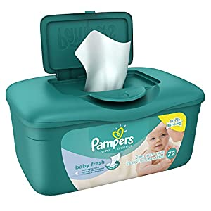 Pampers Baby Fresh Wipes Tub, 72 Count