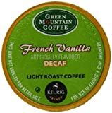 Green Mountain Coffee French Vanilla Decaf, Light Roast, K-Cup Portion Count for Keurig K-Cup Brewers, 24-Count