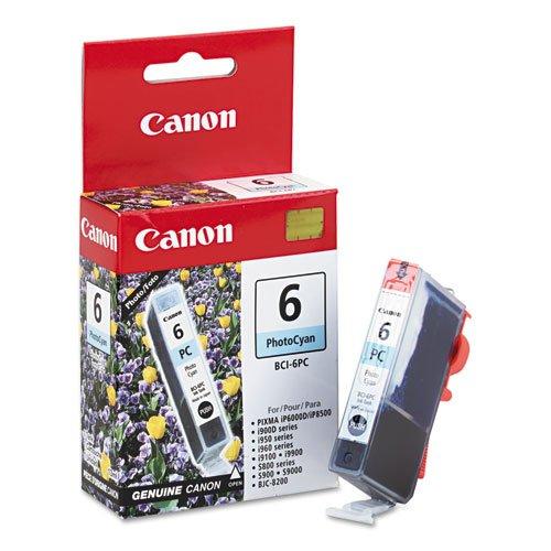 Canon BCI6PC (BCI-6) Ink Tank, 370 Page-Yield, Photo Cyan