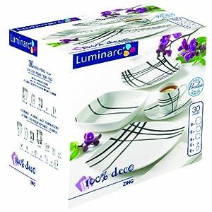 Luminarc 5084091 service assiettes 30 pi ces table zing cuisine - Service vaisselle luminarc ...