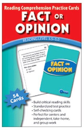 Fact or Opinion Practice Cards Green Level