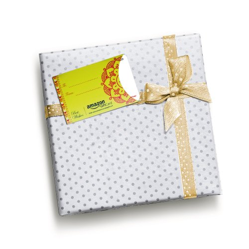 Amazon Gift Card Yellow Gift Tag (with sticker)
