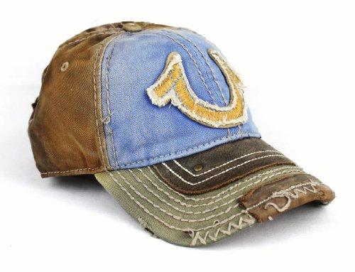 b0916cb3 New True Religion Big Buddha Distressed Blue Trucker Hat Cap / TR#1461 ~  Mens Distressed Jeans