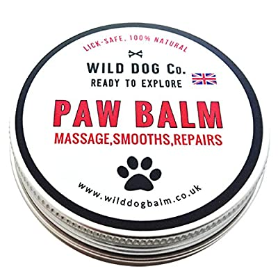 Dog Paw Balm 100% Natural. Great for winter, repairs cracks and smooths rough paws. Made in the UK