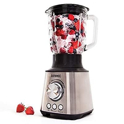 Duronic Stainless Steel Body Table Blender with powerful motor and glass jug from Duronic