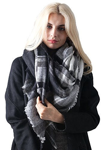 missshorthair-fashion-unisex-winter-reversible-plaid-print-blanket-scarf-shawl-black-white