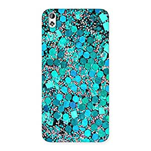 Paper Green Print Back Case Cover for HTC Desire 816