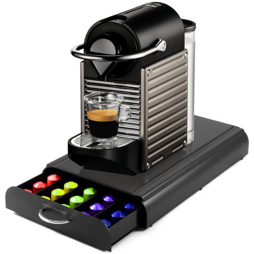 Find Bargain Nespresso C60 Pixie Electric Titan Automatic Espresso Machine with Bonus Mind Reader 50...