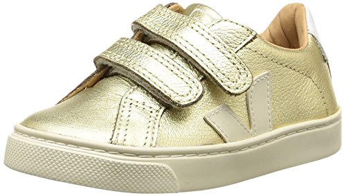 VEJAEsplar Velcro - Scarpe da Ginnastica Basse Unisex - Bambini , Oro (Or (Gold Pierre/Pierre)), 35