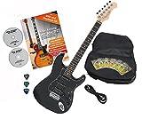 Rocktile Pro ST60-BK E-Gitarre All Black mit Zubehör