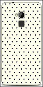 Snoogg Minimal Heart Love Designer Protective Back Case Cover For HTC One-Max