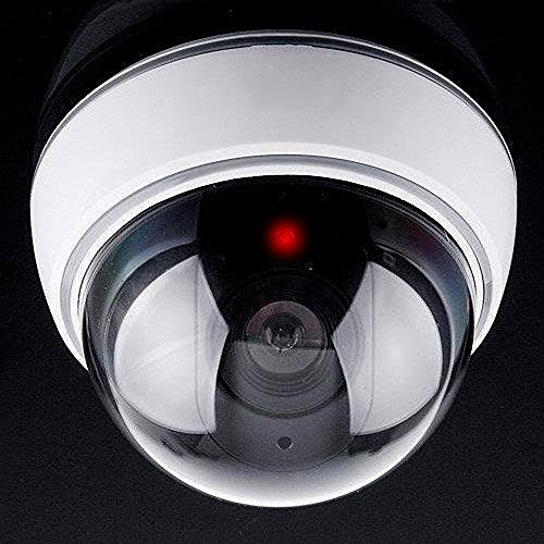 VALAM Indoor Outdoor Fake Dummy Security Camera Simulated CCTV Dome Cameras with Red Led Light  available at amazon for Rs.267