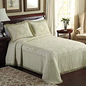 Lamont Home Savannah Bedspread, King, Sage