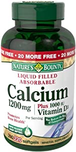 Nature's Bounty Calcium 1200 Mg. Plus Vitamin D3, 220-Count