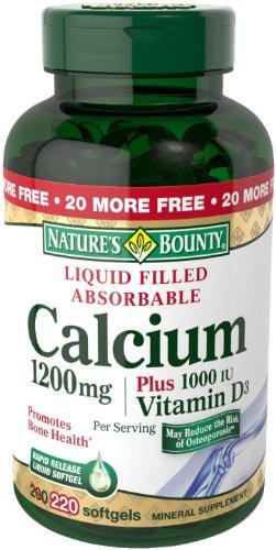 Nature's Bounty 自然之宝 Calcium 液体钙 (1200mg、200粒) $12.24(需点coupon)