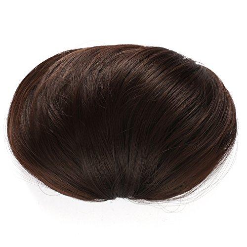 OneDor® Synthetic Big Hair Bun Ponytail Extension Chignon Hair Piece Wig (6#-Medium Chestnut Brown)