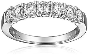 14k White Gold 7-Stone Diamond Ring (1 cttw, H-I Color, I1-I2 Clarity), Size 5