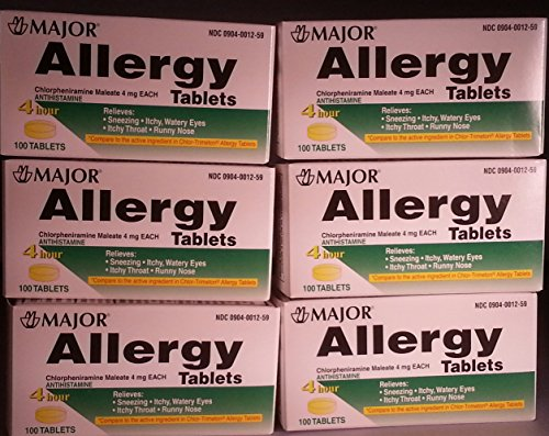 6-Pack-Anti-allergy-Antihistamine-Chlorpheniramine-Maleate-4-Mg-Generic-for-Chlor-trimeton-Allergy-100-Tablets-Per-Bottle-6-Pack-Total-600-Tablets