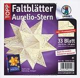 Aurelio-Set-Shimmer-paper-Tunis-33-Blatt-15-x-15-cm-Weiss-Gold-120-g-qm