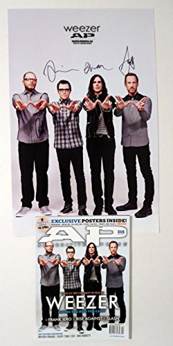 Weezer REAL hand SIGNED 11x17 Alt Press Poster with Magazine Rivers Cuomo +3 #2 (Alt Press Magazine compare prices)