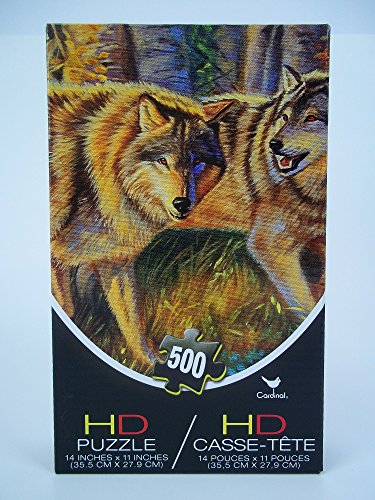 500 Piece Wolfs In The Wilderness HD Jigsaw Puzzle