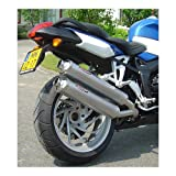 BOS Oval 110 f. BMW K1200R/S Bj. 2005-2006 Slip On, Carbon, EG-ABE 05100KRC