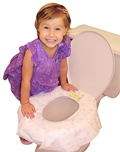10 Disposable Potty Training Seat Cover, potty seat covers, toilet seat cover, for ON THE GO parents. X-large, biodegradable, travel potty seat cover. Protect your whole families POMPI's NOW!