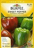 Burpee 64527 Pepper, Sweet California Wonder Seed Packet