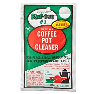 Coffee Pot Stains Cleaning : Amazon.com: KAF-TAN #1 Coffee Pot Cleaner/Stain Remover, 1.5 Ounce Packet: Home & Kitchen