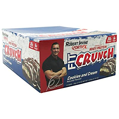 Chef Robert Irvine FortiFx Fit Crunch Meal Replacement Bar, 12 Count