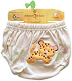 Naturally for Baby Organic Sasha Embroidered/ Applique Diaper Cover, Large, 6-12 Months