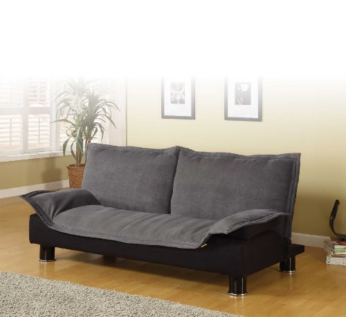 coaster-300177-futon-sofa-bed-couch-sleeper-grey-microfiber-black-base