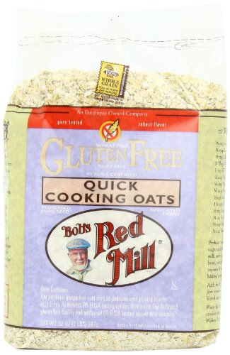Bob's Red Mill Gluten Free Quick Cooking Oats, 32-Ounce Bags (Pack of