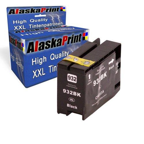 Druckerpatronen Tintenpatrone Ersatz für Hp 932 XL (1x black ) Ink Cartridge WelleSerie