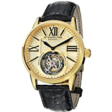 Stuhrling Original Men's 537.333X31 Tourbillon Grand Imperium Limited Edition Mechanical Gold Tone Watch