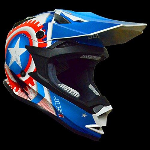 Just 1 casque casque 606321018100105 j32, motostar america, taille l :