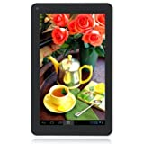 """Megafeis M706 7"""" inch 8GB Google Android Quad Core Tablet PC Camera 5 Point Multi-touch Screen 1024X600 1080P HDMI Microphone G-Sensor (Black+White) Rechargeable Battery WIFI Christmas New Year Thanksgiving Day Gift Present Kids"""