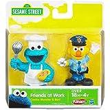 Sesame Street Friends at Work Cookie Monster & Bert Figures