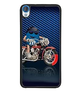 PrintDhaba Bike Rider D-3819 Back Case Cover for HTC DESIRE 820 (Multi-Coloured)