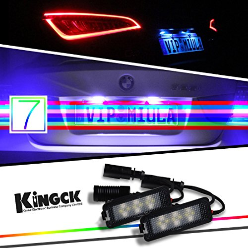 Kingck Bmw Audi Porsche Panamera 7 Colors Direct Replacement Led License Plate Light Pack Of 2